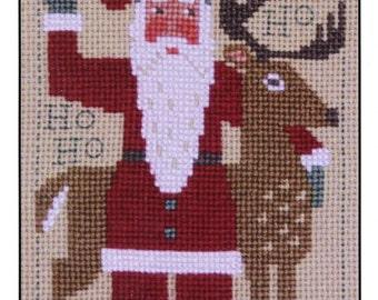 2016 Schooler Santa by Prairie Schooler Counted Cross Stitch Pattern/Chart