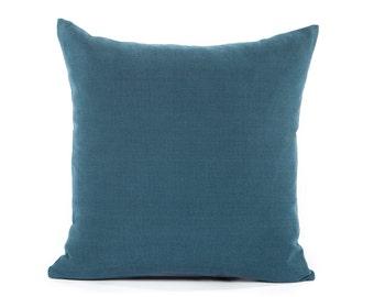 solid navy blue decorative cushion lumbar oblong rectangular throw pillow cover european sham