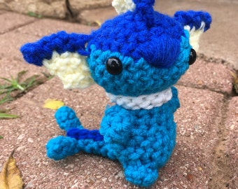 Vaporeon eeveelution eevee amigurumi pokemon plush plushie crochet stuffed animal toy chibi