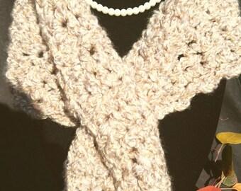 Handmade custom crochet Keyhole scarf