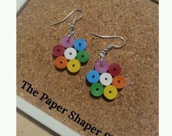 Pride Rainbow Quilled Earrings