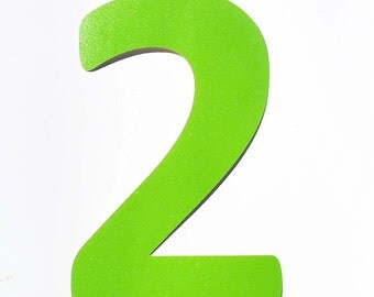 Green Number Two, Lime Green Two Shape, Number Two Shape, Number Cut Outs, Two Cut Out, Glitter Number Two