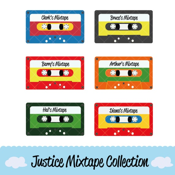 Superhero Justice Mixtape Collection Clipart