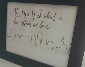 NYC Love Affair sketch