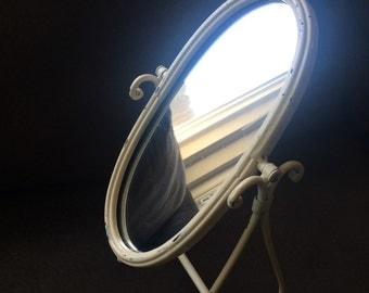 Rehabbed Shabby Chic Tabletop Mirror