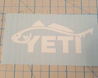Yeti RedFish Logo Vinyl Decal
