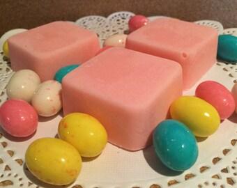 Bubblegum soap scrub, soap cube, handmade soap bar, sugar scrub, sugar soap scrub, handmade scrub, handmade soap scrub, exfoliate dry skin,