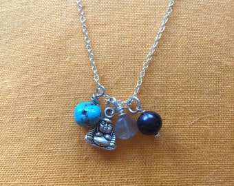 Buddha Charm necklace with turquoise