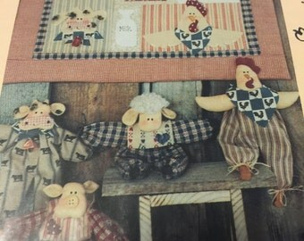 Vintage Once Upon A Vine Farmyard Friends and quilt pattern