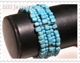 Handcrafted Turquoise bracelet #B7492