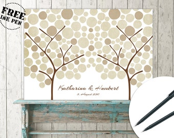 Sign tree guest book for wedding, baby shower, birthdat, children party, school party. Custom color and text available. Wedding tree