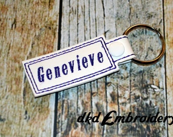Personalized Name Key Chain - Vinyl keychain snap key fob - Choose Your Colors