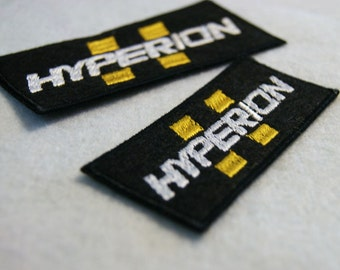 Borderlands Hyperion logo sew on embroidered patches