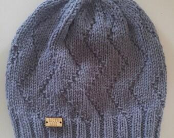 Hand-knit Zigzag Hat
