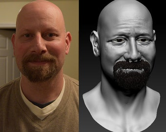 Realistic Portrait Bust 3D Print- from photo