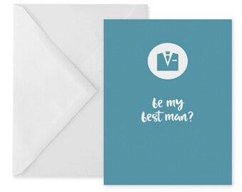 Best man proposal card – will you be my best man greetings card – best man question card for best man – best man card