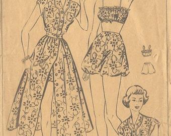 "1940s Vintage Sewing Pattern B36""-W30"" Shirt- Skirt - Bra -Knickers -Sun suit  (92)    Style 4849"
