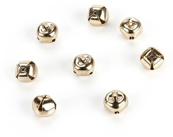 144 Gold Jingle Bells, 6mm (.24 Inches)