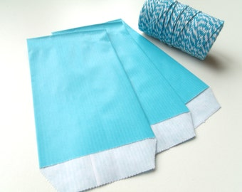 50 7 cm * 12 cm Blue Turquoise Kraft gift bags pouches