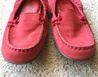 Red Hush Puppies Loafers