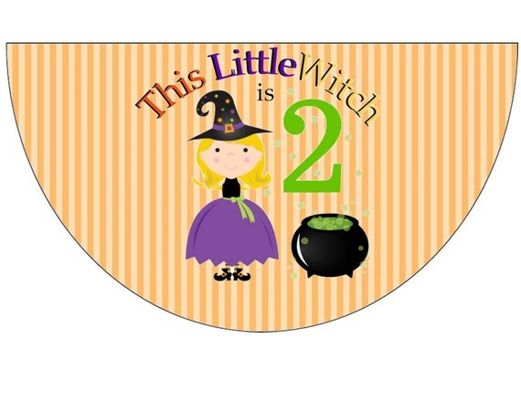 Halloween Witch Birthday Party Hats