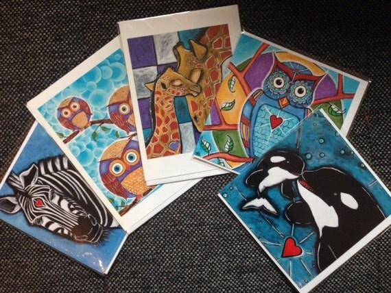 Animal Art Card Sampler Pack