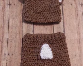Crochet Deer outfit/ photography prop/ newborn