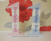 First birthday birthday girl / boy freestanding wooden number / engraved birthday Number 1 / one / gift