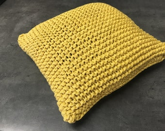 Hand-knitted decorative pillows