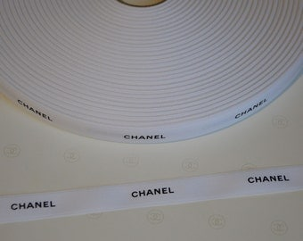 Authentic Chanel white ribbon 1 meter for scrapbooking gift wrapping decoration handmade design jewelry paper design