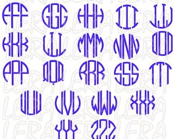 60 % OFF, Monogram Alphabet SVG, Three Letters Monogram, Circle Monogram svg, eps, dxf, Circle Monogram Font SVG Cut Files, Circle font