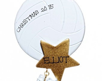 Volleyball Star Personalized Christmas Ornanment-Free Gift Bag Included