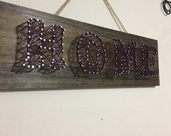 Handmade wooden HOME sign, customizable!