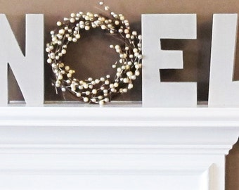 Noel Letters, Mantel Decor, Noel Mantel Decoration, Christmas Decorations For Fireplace