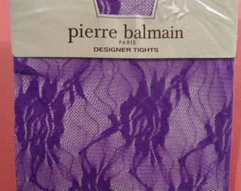 Pierre Balmain vintage tights 1 clematis, 1 sapphire