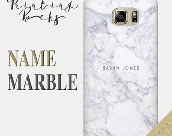 Custom Name Marble for Samsung Personalised Marble Samsung Case Custom Samsung Case Marble Samsung S7 marble galaxy s6 Samsung Note 7,14