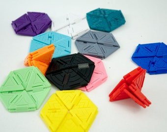 Fidget Toy Hexaflexagon, Folding Desk Toy, 3D Printed Fidget Toy