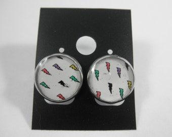 Multi-Color Lightning Bolt Earrings, Lightning Bolt Jewelry, Lightning Jewelry, Lightening Jewelry, Lightening Earrings, Lightning