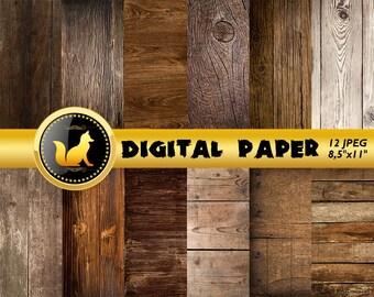 Dark Wood Paper,Dark Wood digital,Dark Wood texture,Rustic Wood,Distressed Wood,Wood Backdrop,Boho Wood Scrapbook Paper,Old Wood Background