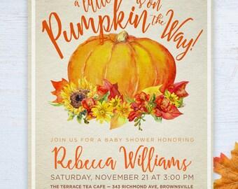 Little Pumpkin Baby Shower Invite