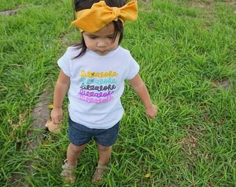 Lots of Aloha girls toddler tee