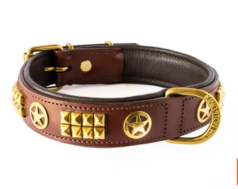 The Sheriff Leather Dog Collar