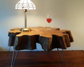 Live Edge Yew Coffee Table