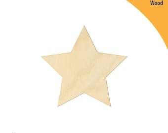 Star Wood Cutout Shape, Laser Cut Wood Shapes, Crafting Shapes, Gifts, Ornaments Star