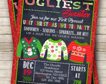 Ugly Sweater Holiday Party Digital Invitation