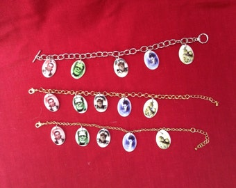 "Classic Monster Ceramic Charm Bracelet w/ 8.5"" chain"