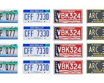 scale model Michigan car license tag plates