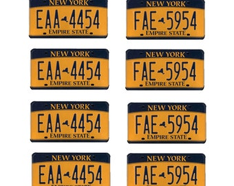 scale model New York State car license tag plates 2012