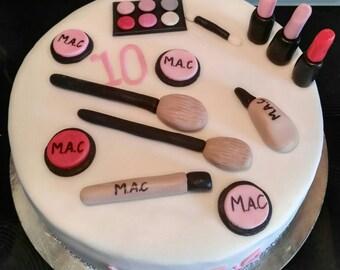 Fondant decorations, cake decoration, decoration, cake depositor, fondant figurines, M.A.C. make up