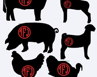 Custom Made - Agricultural Animal Vinyl Decal